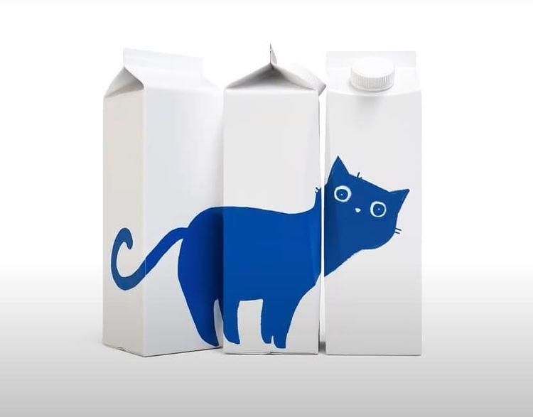 Дизайн на опаковка за прясно мляко